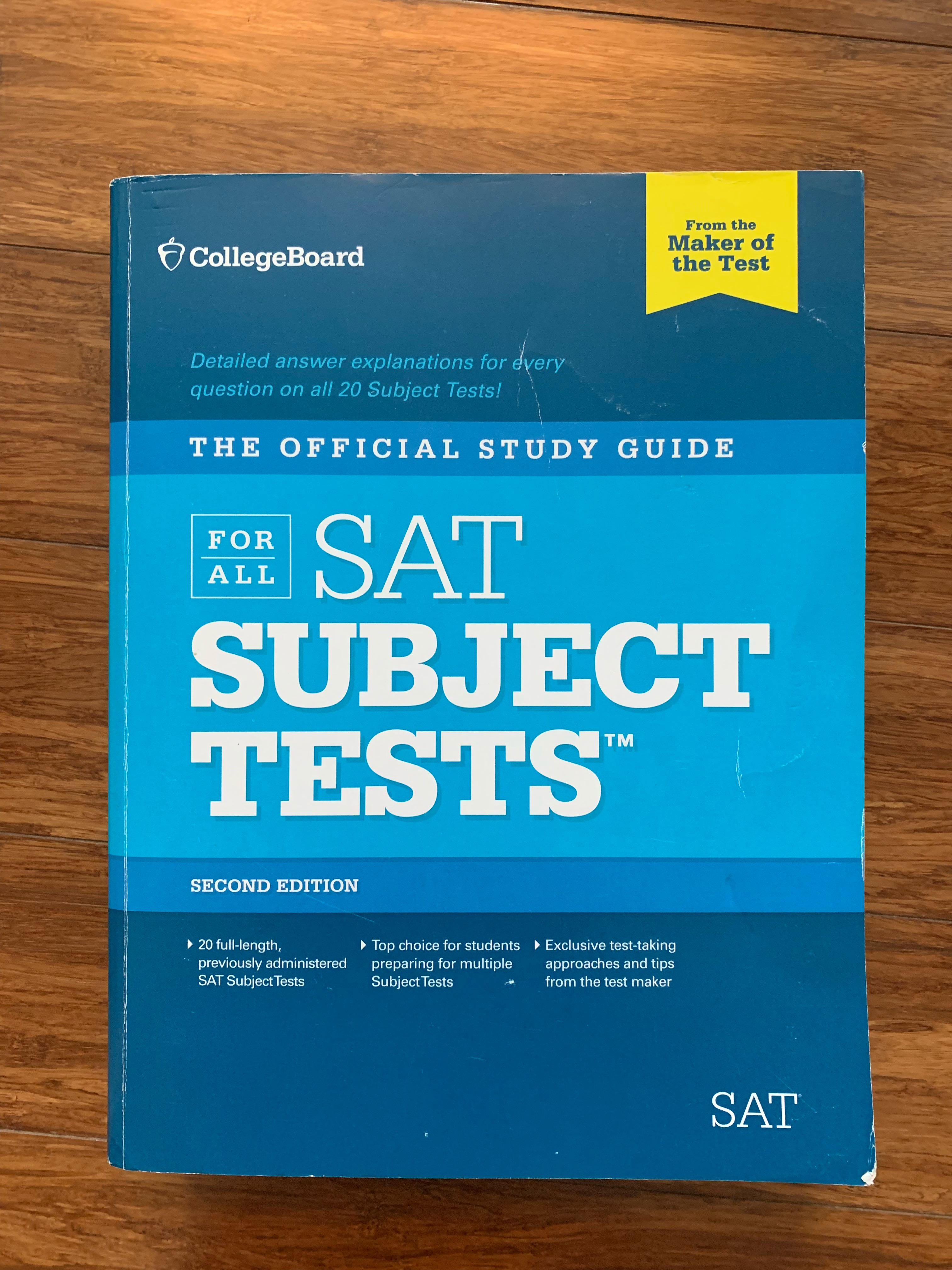 Official SAT Subject Tests Study Guide