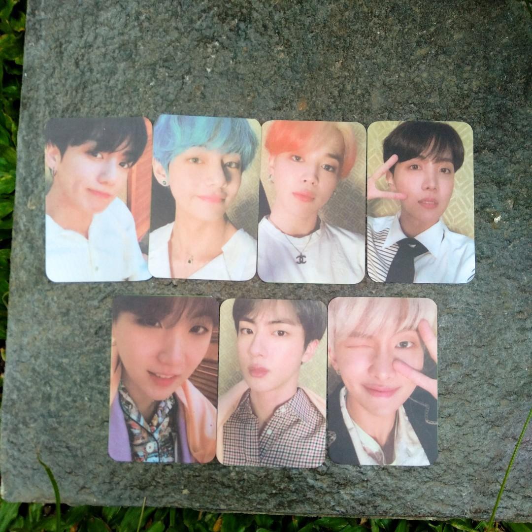 Photocard (PC) Namjoon/RM, Jin, Suga, Jhope, Jimin, Taehyung/V, Jungkook BTS PERSONA ver 1, 2, 3, 4