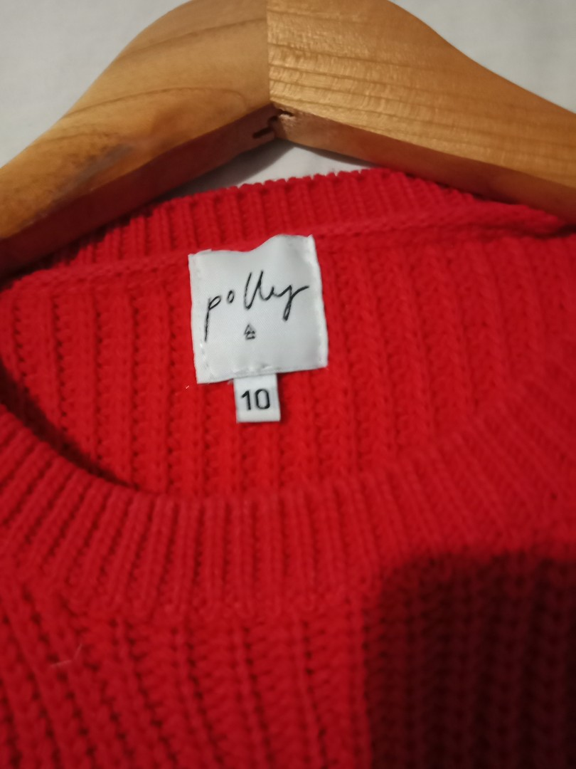 Princess polly red knit sweater