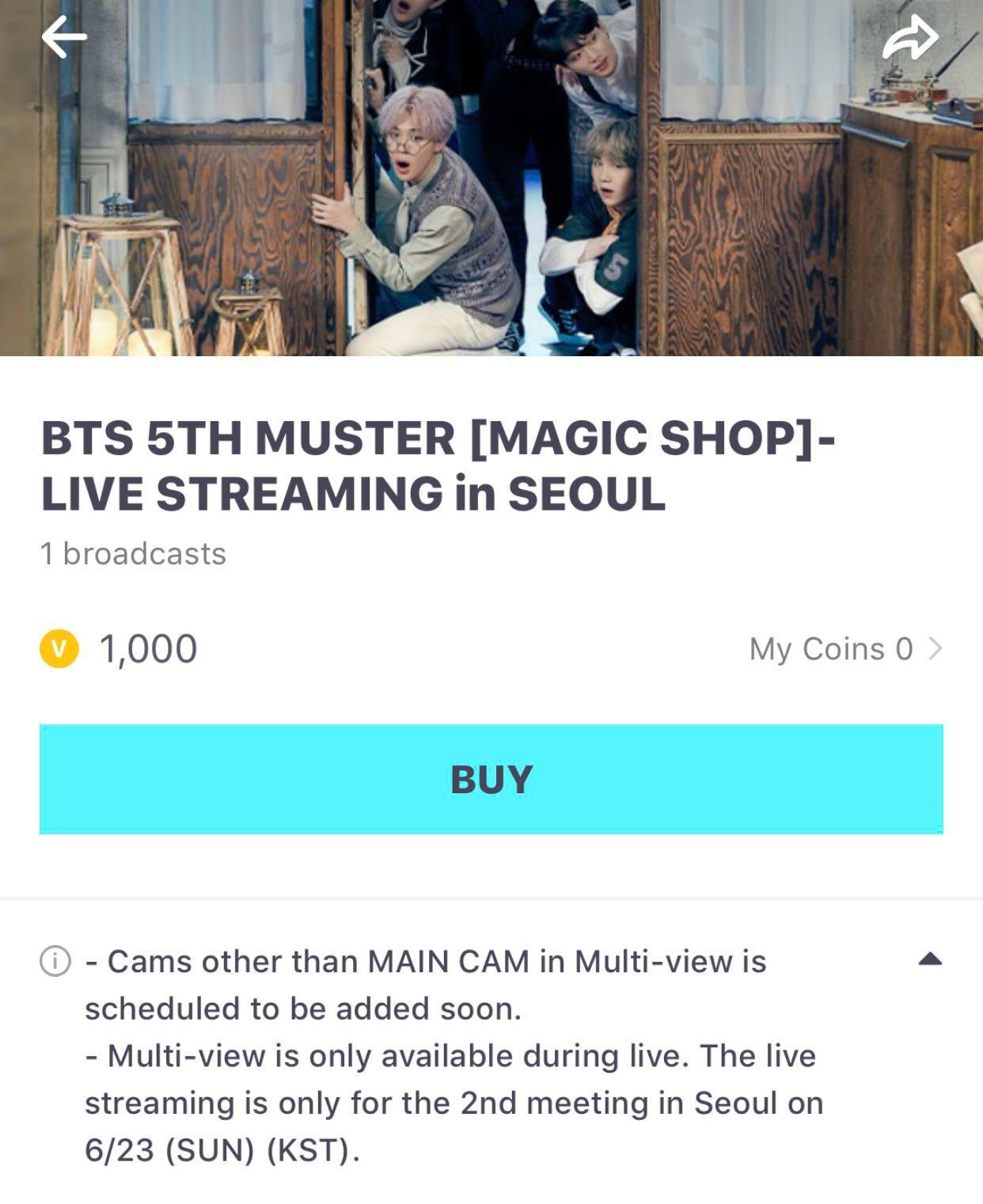SHARE] BTS 5th Muster Livestream, Entertainment, K-Wave on