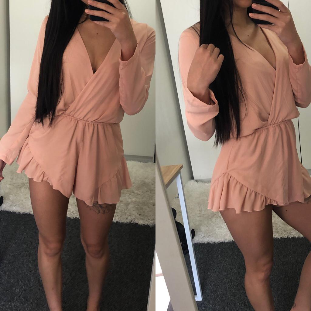 SIZE 6 Pink Playsuit