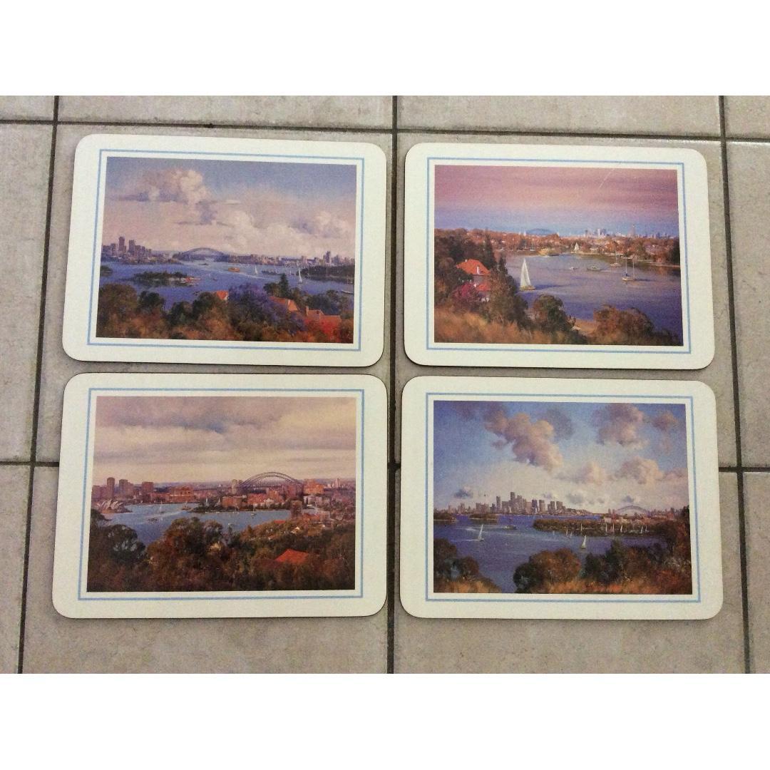 Sydney coasters 6 pieces  large size