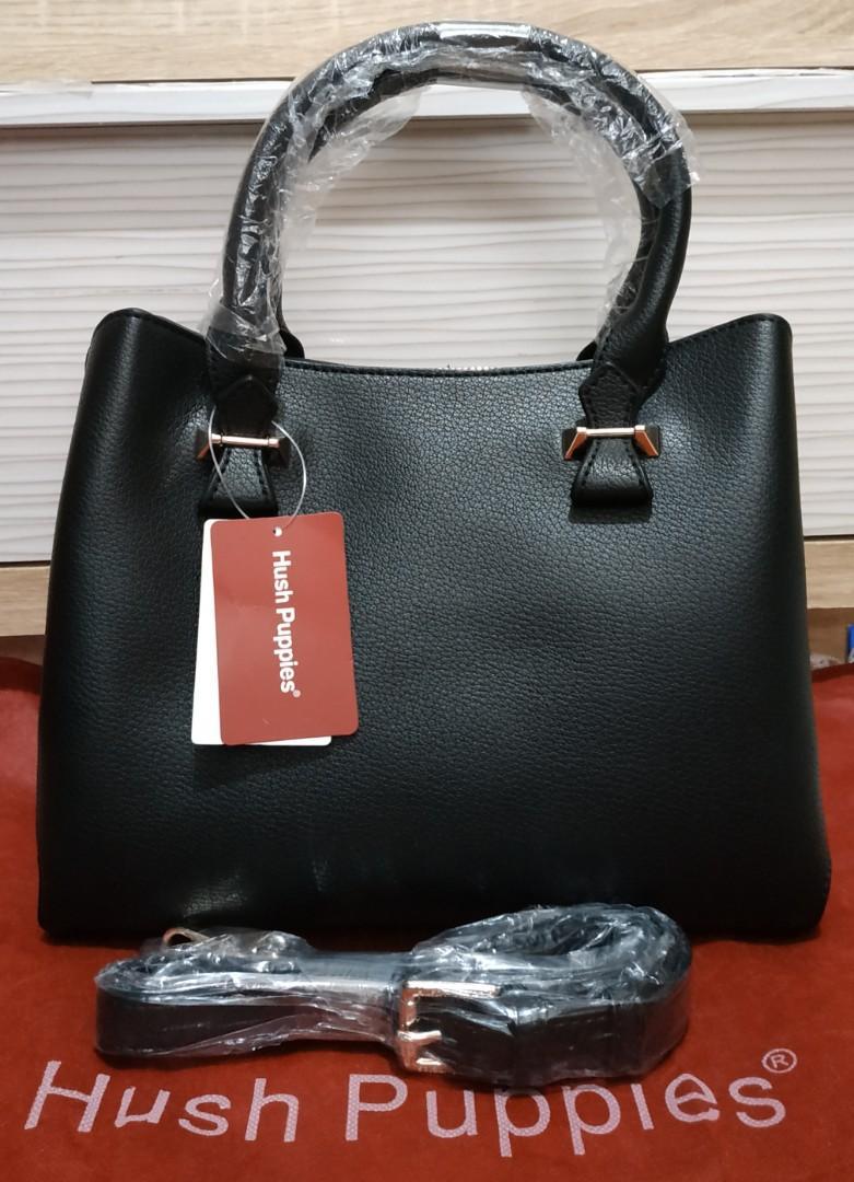 Tas Selempang Handbag Hitam Hush Puppies Original Minley Top Handle Black