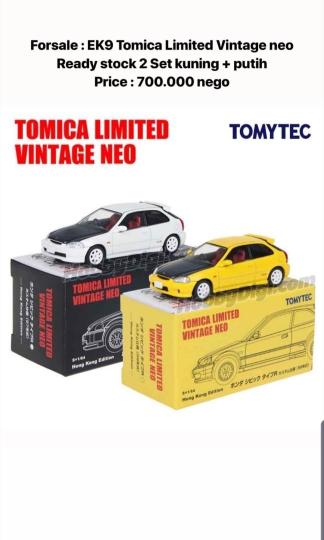 Tomica civic type R limited vintage neo  1 set kuning dan putih