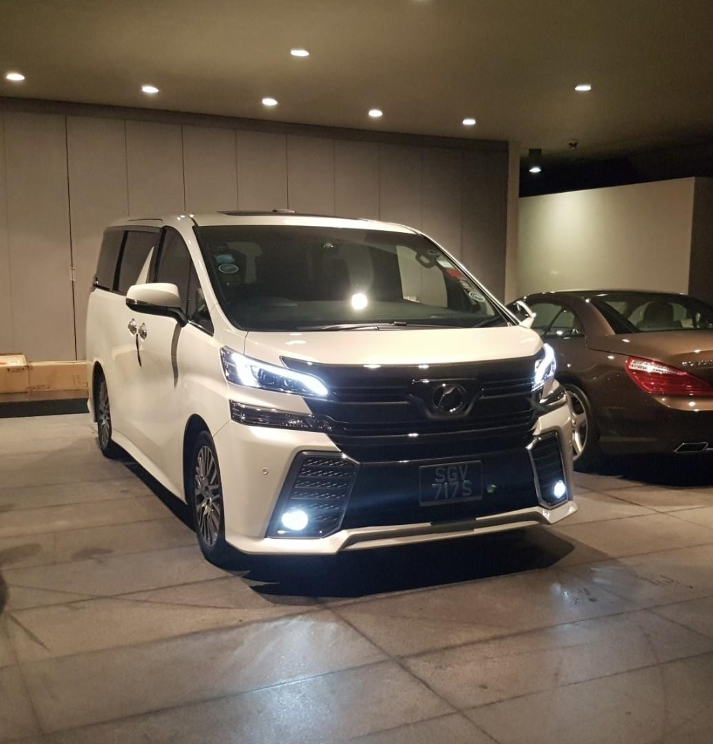 Toyota Vellfire Hari Ray Car For Rent