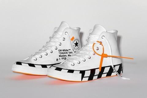 US 8.5 Nike off white converse chuck