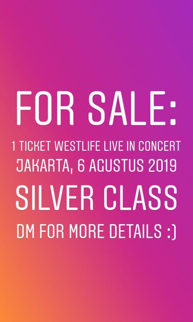 Westlife Twenty Tour Ticket - Jakarta