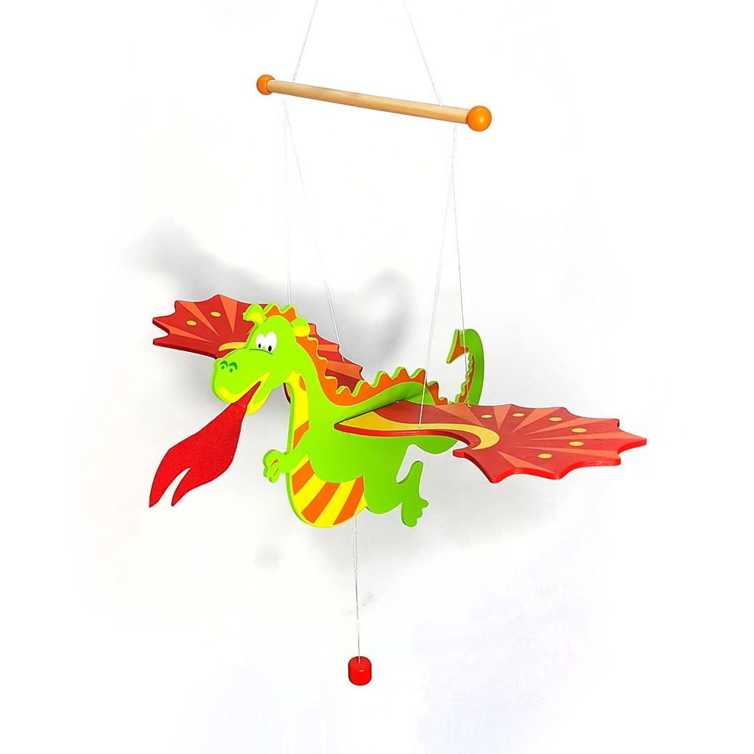Wooden Fire Breathing Flying Dragon Mobile On Carousell