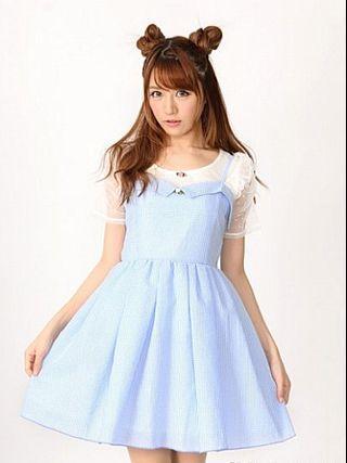 BNWT Ank Rouge Light Blue Gingham Dress