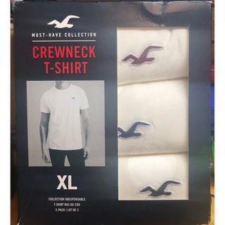 全新Hollister三件短袖T恤(紅藍黑logo) 3 pcs short sleeves T shirt