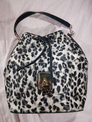 Guess Leopard print drawstring bag