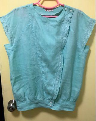 Ramie Embroidered Woman's Top