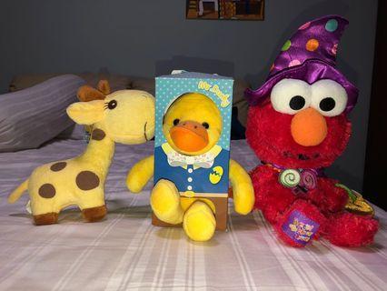 Soft toys for sale (Giraffe, duck, elmo) #JuneHoliday30