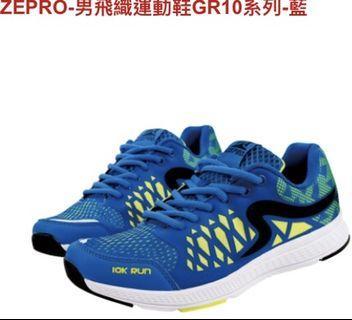 🚚 #大腳#Zepro 炫彩運動鞋 黃藍 26 不分男女