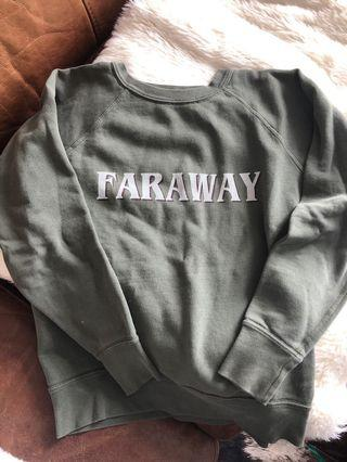 Isabel Marant Army Green crew neck pullover sweater size small