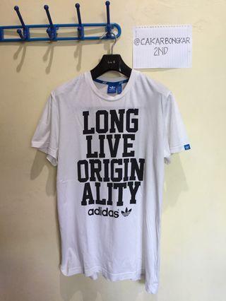 T-shirt Adidas Originals Slogan Tee - White