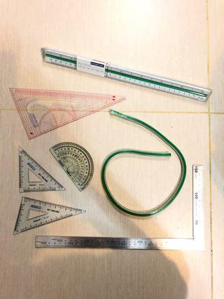 L尺 軟尺 半圓尺 三角尺 design用工具