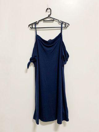 🚚 Cotton On Off Shoulder Dress (Dark Blue) #juneholiday30
