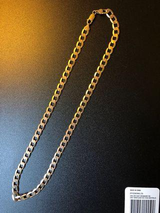 Men's or women's 8MM Solid yellow gold 9K 375 chain 20 inch 31 Grams