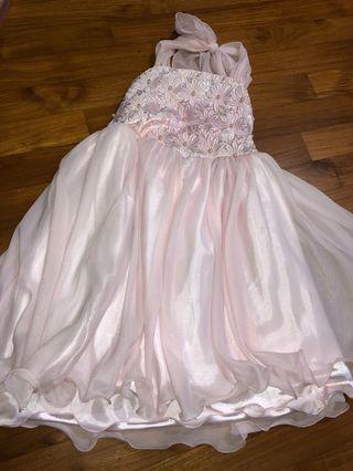 🚚 Tie neck pink dress