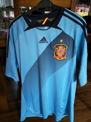 Original Spain Away Blue Jersey 2012 for men