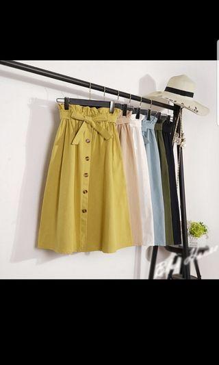 [CLEARANCE] BN Midi A-Line Button Down Skirt