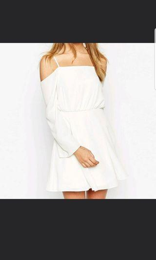 [CLEARANCE] BN ASOS White Off Shoulder Dress