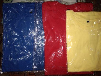 Obral 3 Kaos ( Biru Benhur , Merah Cabe , Kuning Kenari)