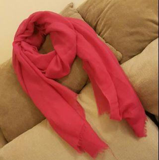 pink cotton scarf