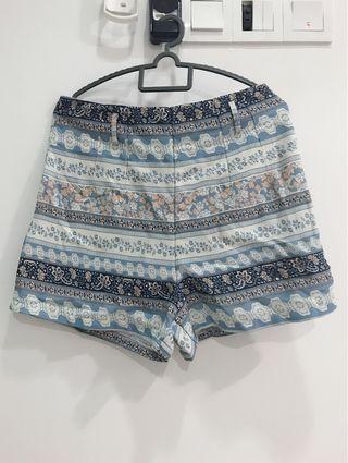 High Waist Bohemian Short Pants