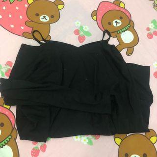 露膊黑色衣服 off shoulder