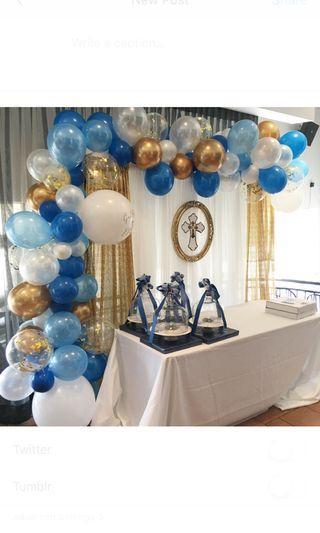 Balloon garland backdrop rental / personalized balloon