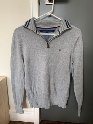 tommy hilfiger quarter zip sweater