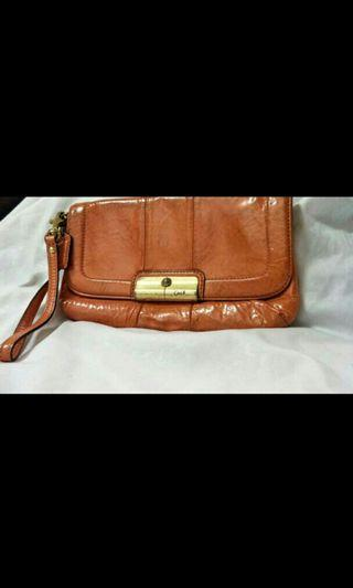 Coach Ashley Pattern Leather Large Wristlet