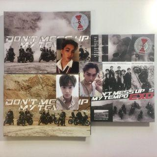 EXO Don't Mess Up My Tempo Album Moderato, Andante, and Allergo versions with 3 Official Kai Jongin photocards
