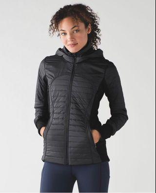 Lululemon black first mile jacket sz 4 (AU8) RRP USD$228