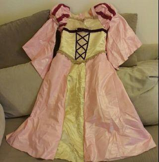 Princess pink long dress (for girls)