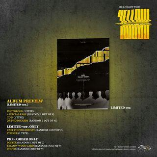 [1 SLOT] Stray Kids 5th mini album - Clé2 : Yellow Wood - Limited ver