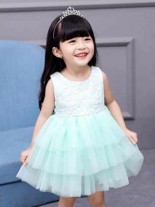 [BNWT] Princess Dress/ Girl Dress / Girl Wedding Dress/ Flower Girl Dress with Furry Outwear