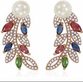 🚚 Colourful CZ earrings