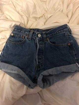 UO Vintage Levi's 501 Denim Shorts