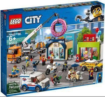 Lego city 60233 Donut shop opening 同系列 60215 60216 60226 60227 60228 60230 60234