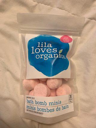 Lila Loves Organics Bath Bomb Minis