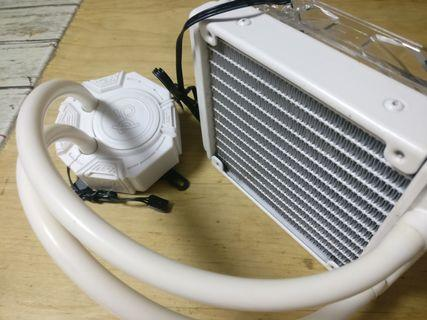 id-cooling 120 white liquid cooler 一體式水冷