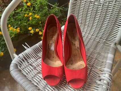 Red heels Big Size Christian Siriano for Payless