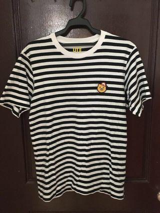 Ryan x uniqlo男生m號黑白條紋t恤超可愛9成新便宜賣