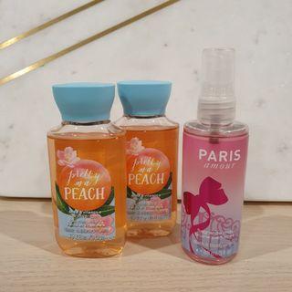 Bath & Body Works Travel Shower Gel  & Fragrance Bundle