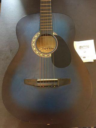 Acoustic guitar, strings and bag