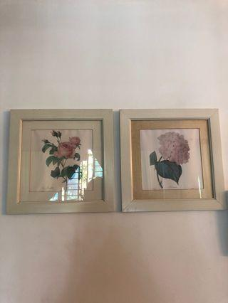 Floral painting for wall decor