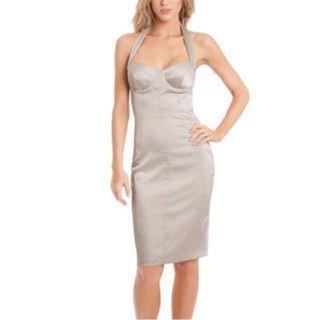 $188 Marciano Guess Susanna halter corset dress rose pink size 2